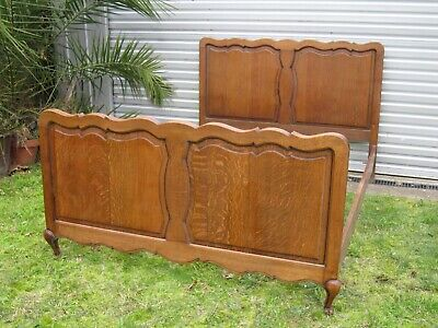 Vintage French Oak Double Bed