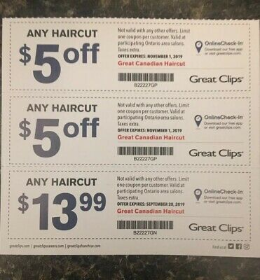 3 Great Clips Haircut Coupons (Ontario) - Over $10 in Savings