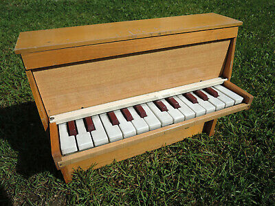 RARE TOY PIANO JOUET MUSICAL MICHELSONNE PARIS 25 touches see VIDEO