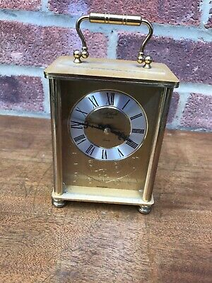 Vintage Brass Carriage Clock, Quality Chiming Clock, E.a.combs, Gwo Free Uk Post