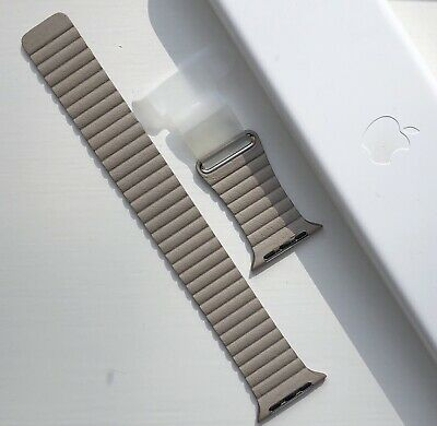 GENUINE APPLE WATCH  - STONE LEATHER LOOP STRAP - 42/44mm M