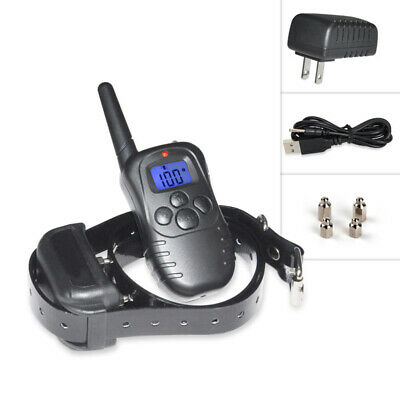 Rechargable Remote Control Bark Collar Remote Vibration LCD Ecollar Shock Collar
