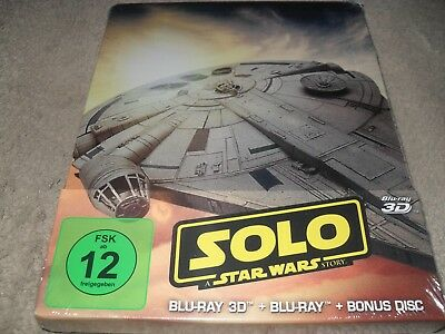 Solo A Star Wars Story 3-D 3-Disc Region Free BRAND NEW Steelbook Blu-ray