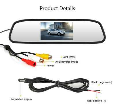 4.3 Inch TFT LCD Display Monitor Auto Car Vehicle Rearview Mirror Monitor