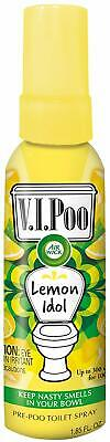 New Air Wick VIPoo Toilet Spray - Lemon Idol Freshener Scent 55ml - x4 Bottles