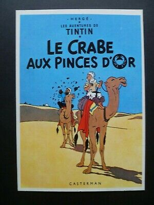 Tintin Herge Carte Postale Couverture Le Crabe Aux Pinces D'or Ed. Arno 1981 Tbe