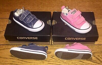 Crib Converse First Star HI Pink//White Booties RRP £21.99 PF1
