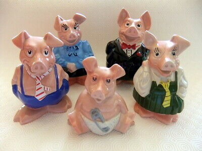 Natwest Pigs by Wade - Full set with original stoppers