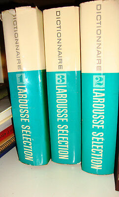 DICTIONNAIRE LAROUSSE SELECTION 3 volumes reader digest
