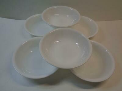 "Set of 6 Corning Corelle WINTER FROST Sauce Fruit Dessert Bowls 5 3/8"" USA"