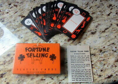 1931 1930s Vintage Halloween Fortune Telling Card Set Witches Owls Rare Complete