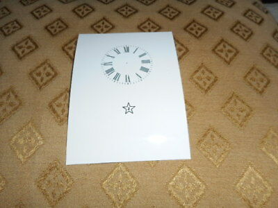 """Junghans Carriage Clock Paper Dial -1 3/4"""" (M/T)-High Gloss White -Parts/Spares"""