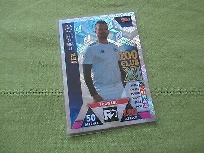 Match Attax Attack Champions League 2018/19 F2 Jez Lynch 100 Club Card