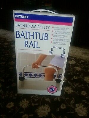 FUTURO PORTABLE BATHTUB RAIL, mounts in minutes cast aluminium