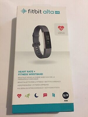 Fitbit Alta HR Black/Stainless Steel Activity Tracker - Small  / Blue Gray