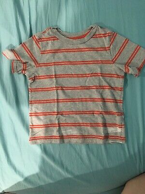 Cherokee Grey And Orange Striped Childs Tee Size 5T