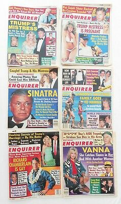 Lot Of 6 National Enquirers 1990-91 With Donald Trump Cover Stories, 2 Near Mint