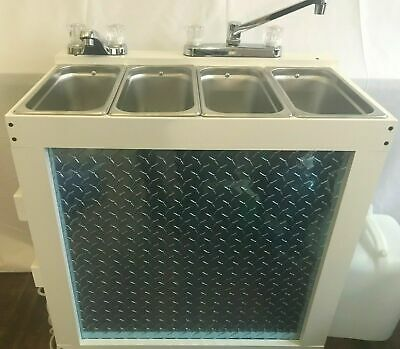 Portable Concession Sink, 3 Compartment Sink/Hand Sink, Hot Water Scratch & Dent