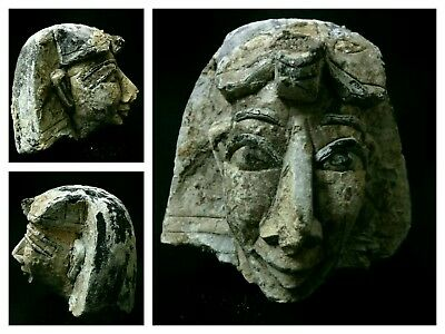 Rare Ancient Egyptian Antique statue limestone head BC