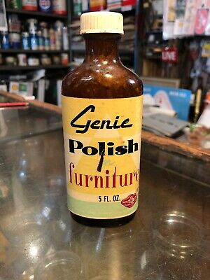 Genie Furniture Polish 5 Floz Vintage Glass Jar