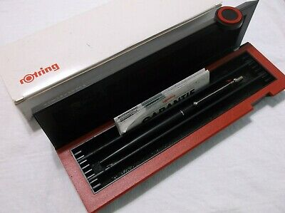 New Rotring 700 Black Metal Ballpoint Pen / New In Box ( 027140 )
