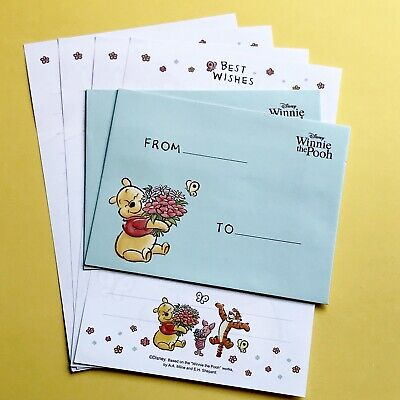 WINNIE THE POOH Miniature Letter Set / Writing Note Paper Scrapbook/ Journal