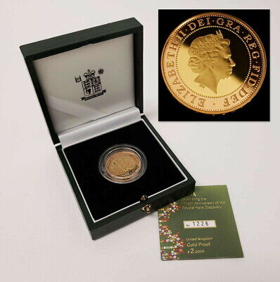 2003 United Kingdom £2 Pounds 22kt Red/Yellow Gold Double Helix Coin VE-UKG0304