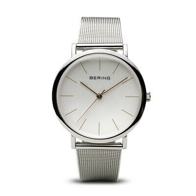 BERING Time 13436-001 Classic Collection Watch with Mesh Band and scratch resist