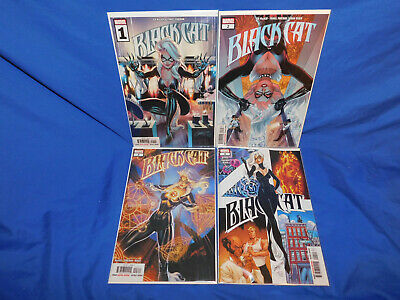 BLACK CAT #1 2 3 4 Lot - J. SCOTT CAMPBELL MAIN COVER 2019 Unread NM