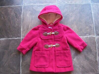 Girl's Pumpkin Patch Hot Pink Hooded Polyester Coat/Jacket Size 1 VGUC