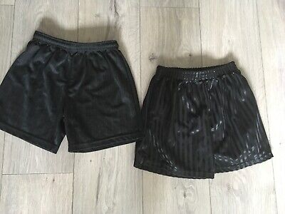 Black Football , Sports Shorts Age 7 Years Excellent Condition