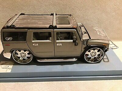 MAISTO HUMMER H2 SUV Gray 'Playerz Edition' 1:18 SCALE DIE CAST! Rare
