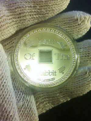 """1.2 Oz Chinese """"Year Of The Rabbit"""" Coin Finished with 999.0 Fine Silver"""