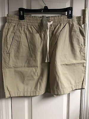JCREW  MENS Dock short in garment-dyed chino SHORTS SIZE NEW TAGS C1520 CARAMEL