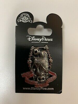Disney Parks The Nightmare Before Christmas Jack Skellington and Sally Pin NOC