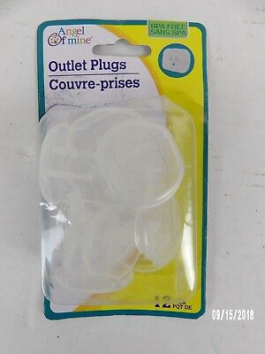 Angel of Mine 12 Piece Outlet Covers Translucent Clear