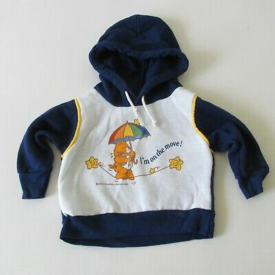 Vtg 80s Deadstock Care Bears Infant 12 Months Fleece Hoodie American Greetings