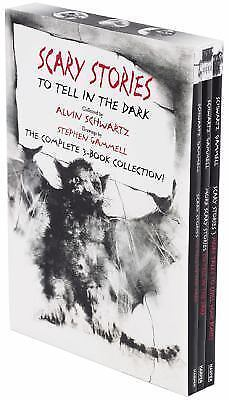 Scary Stories Paperback Box Paperback by Alvin Schwartz Art by Stephen Gammell