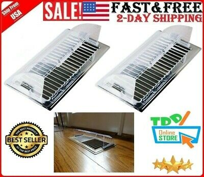 2 Pack Air Vent Heat Cold Deflector Wall Floor Register Vent Magnetic Cover New