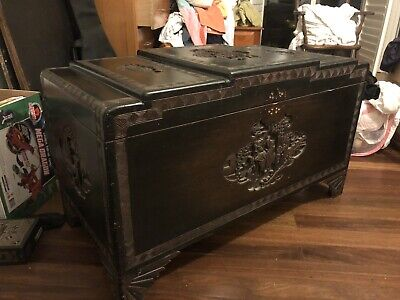 Beautiful Antique Camphor Blanket Chest