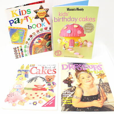4 x Assorted Creative Idea for Kids Books Dress Up and Cook Books  #416