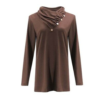 Women Blouse Tops Long Sleeve Knitted Jumper Sweater Casual Solid Color Shirt