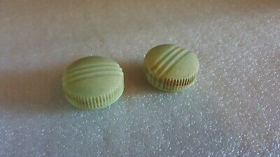 GREEN STC KNOBS PAIR FOR RADIO VINTAGE ORIGINAL CONDITION  Bakelite