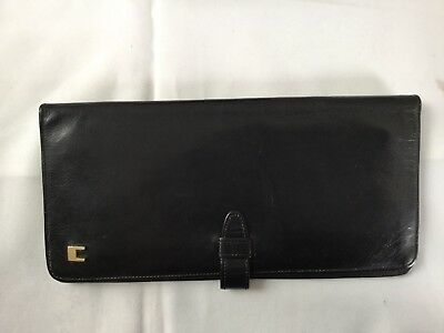 VINTAGE CARDINI LARGE LADIES LEATHER BROWN WALLET FROM THE 70s