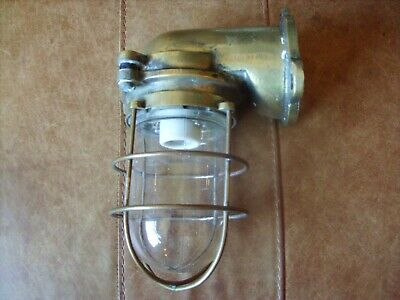 Genuine Vintage Brass Ships Bulkhead Light