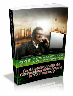 21st Century Networking and Social Dominance +pdf + ebook + Resale right
