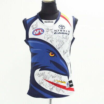 Reebok Adelaide Crows Men's Signed AFL Player Sleeveless Guernsey Size L #929