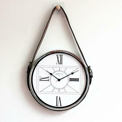 Metal Large 3d Modern Wall Watch Quartz Silent Living Room Luxury Pendulum Flip