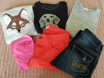 Size 9 &10 Tops & Jeans Guess, Pumpkin patch  & More