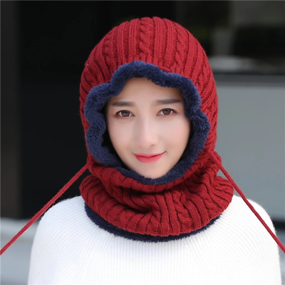 Woman Skullies Beanies Riding Windproof Mask Ear Protect Balaclava Winter Hats F